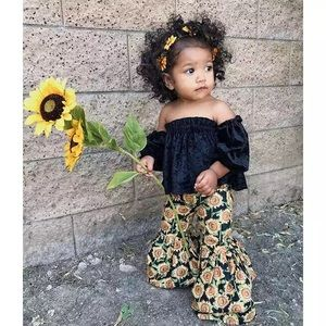 Other - 2 Piece Sunflower Girl outfit